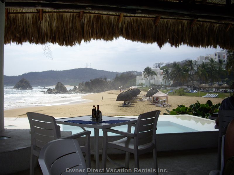 View from Club de Playa Restaurant at the Complex