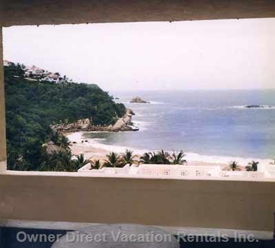 View of Ocean and Beach from Balcony