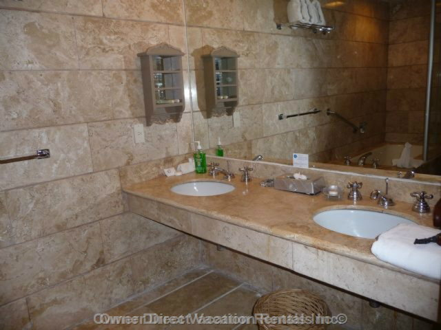 Master Bathroom Ensuite - Twin Sinks with Full Bath and Separate Shower