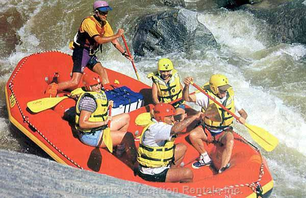 During the Summer Months Rafting is a Fun Activity