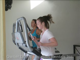 Exercise Room in Use.......For all Guests.   Very Close to Condo and Tennis Court is Nearby.