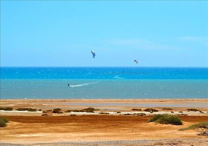 You are Located Only 400m from the Public Red Sea Beach with Ideal Weather Conditions for Kitesurfing