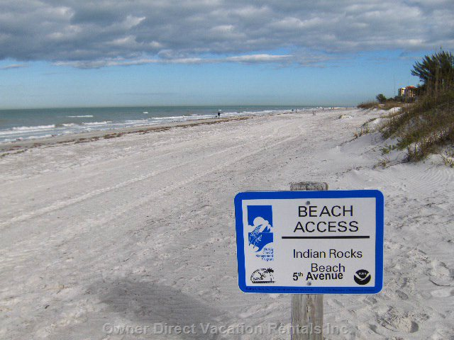 Indian Rocks Beach at 5th Avenue Beach Access
