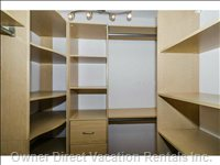 Walk in Closet Located in the Master Bedroom.