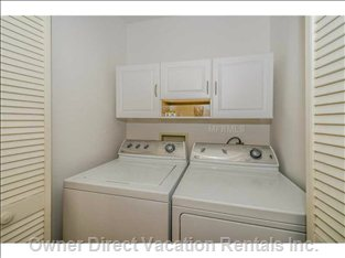 Washer and Dryer Located Next to Master Bedroom.