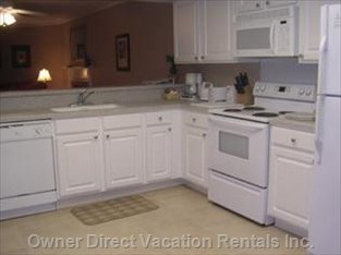 Eat in Kitchen, New Appliances, Cabinets, and Corian Counters