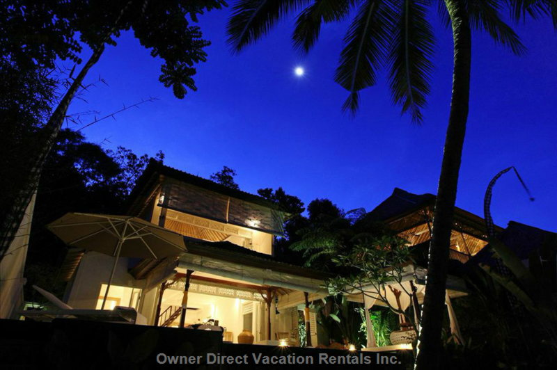 Full Moon over the Villa