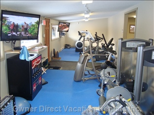 Cardio Room Included Membership - all Brand New Equipment, 2 Ellipticals, 3 Treadmills, Rowing Machine, Upright, Spin & Recumbent Bike.