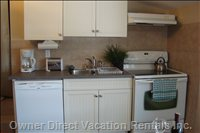 Kitchen with all Utensils, Oven, Dishwasher, Microwave, Coffee Maker, Sink, Toaster & Quality Cookware ( Pot's & Pan's)