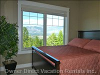 Third Double Bedroom has a Large Window with a Great View.