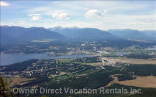 A View of Invermere Taken from Mount Swansea.  A Short Drive and Easy Hike for an Amazing View.