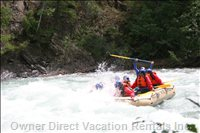 Take an Adventure White Water Rafting on Toby Creek, Fed from the High Alpine Glacier of the Purcell Mountains