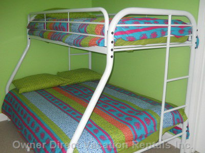 2nd Bedroom has a Queen and Single Bunk Bed