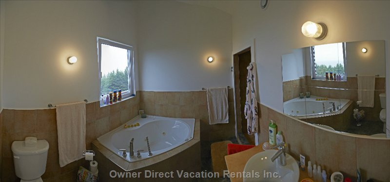 Panorama View of a Bathroom