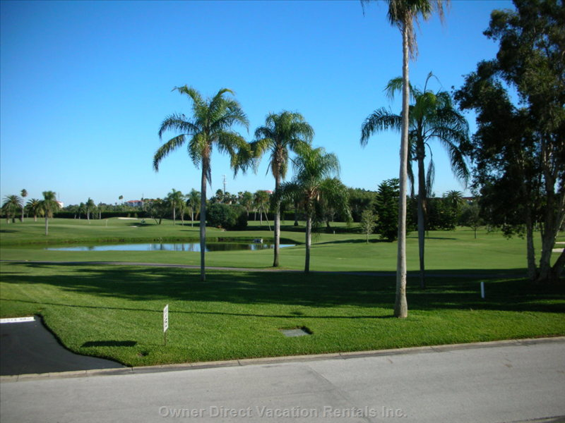 Golf Course at the Front of the Building
