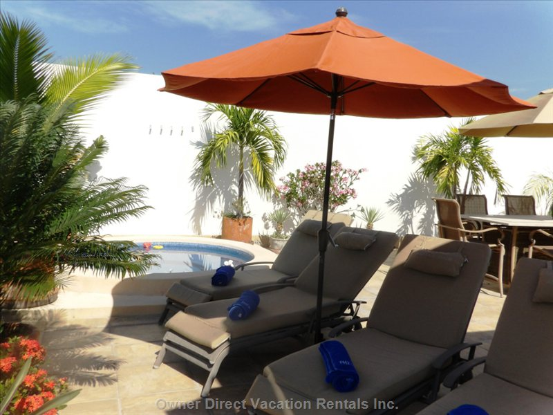 Private Lounge Chairs on the Rooftop Terrace for your Personal Enjoyment.