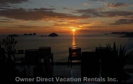 Enjoy Breathtaking Sunsets from any of the Terraces