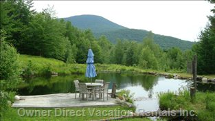 Your Own Piece of Paradise Overlooking Jay Peak.  A Great Spot to Enjoy your Morning Coffee.