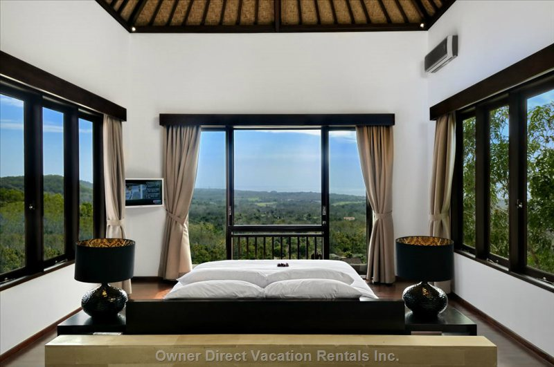 Main Bedroom with Views in Three Directions