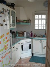 Fully Furnished Kitchen with all Equipment, Facing Garden.
