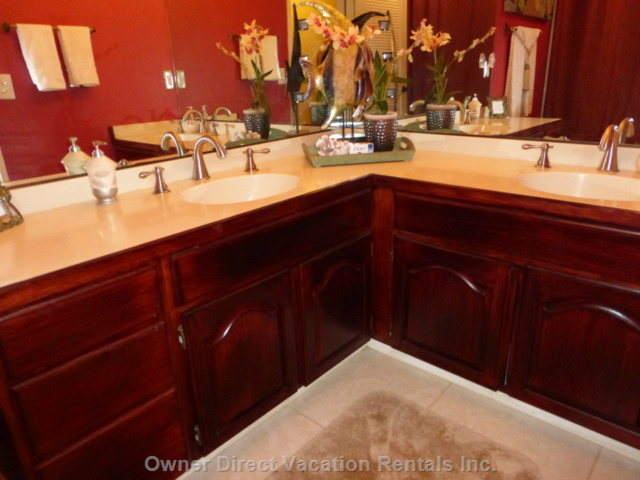 Double Vanities in Guest Bathroom