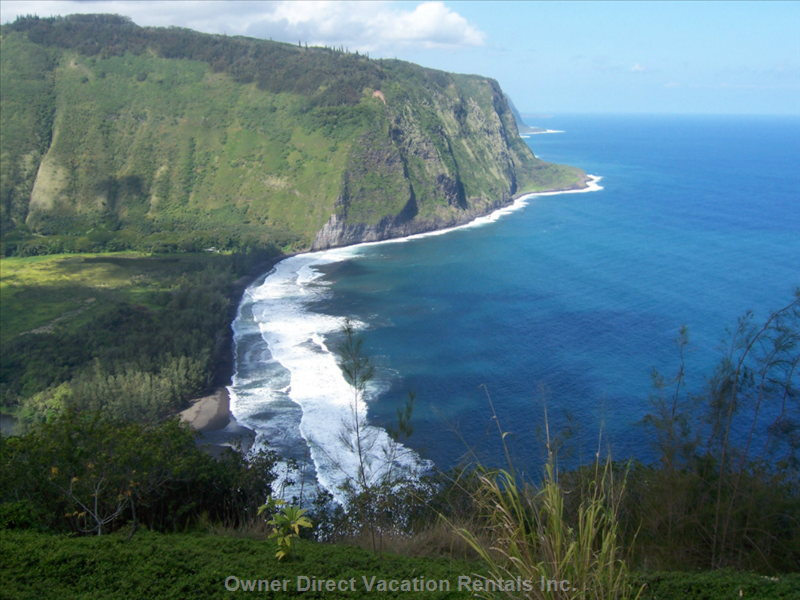 Waipio Valley (about 30 Min) North of the Villa