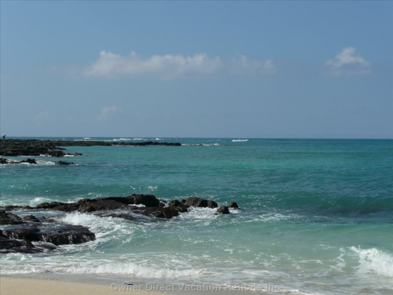 Our Fav Beach  ~ Kua Bay. (about 10-12 Min) North of the Villa