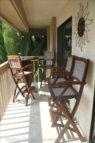 Lanai Access from Master Suite and Living Room Overlooking Heated Swimming Pool and the Ocean!