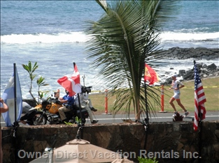 Watch the Kona Ironman Race from our Lanai.