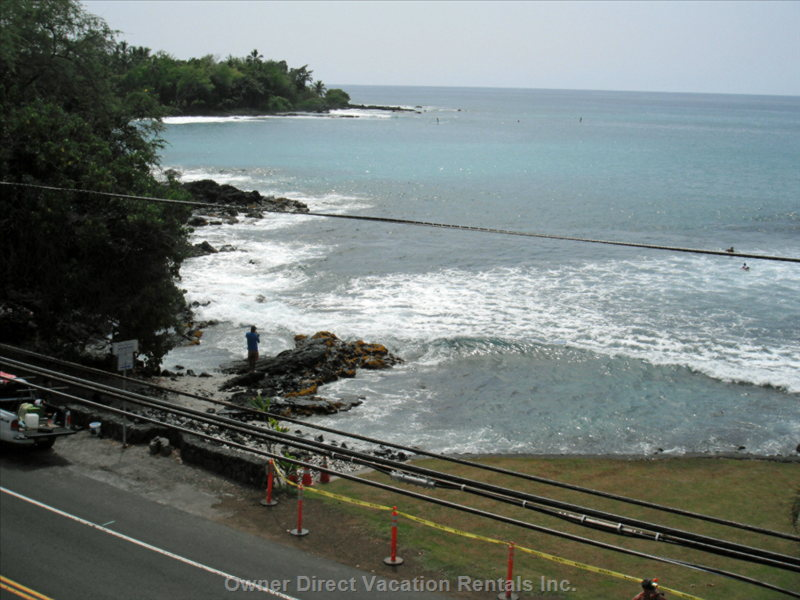 Gates' and Lyman's Beach across Street from the Royal Kahili.  The Condo is Only Steps Away from the Beach.
