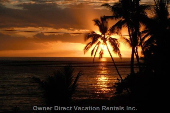 Enjoy the Sunset from the Lanai Or across the Street at Gate's Beach.