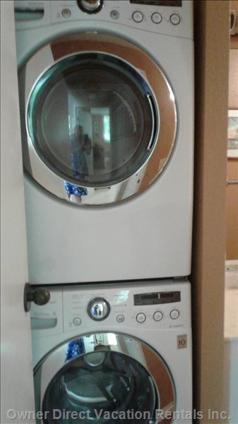 Top of the Line Washer/Dryer in Spare Bathroom