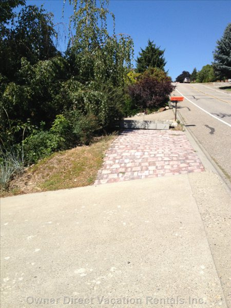 Additional Parking at Top of Driveway, to the Right. 7' X 14'
