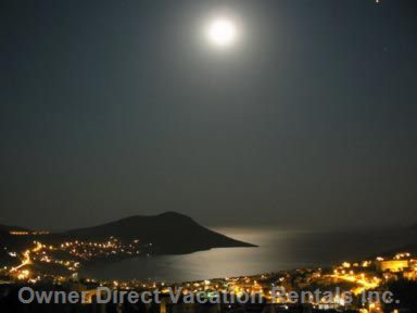 Moonlight View from Roof Terrace