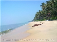 Beach Front - the Long Stretch of Clean, Uncrowded Sandy Beach Just in Front of the Home.