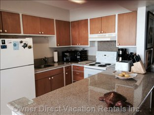 Kitchen, with New Granite Counters, is Fully Equipped.