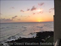 Watch the Sun Set on the Ocean from your Lanai  (Winter).