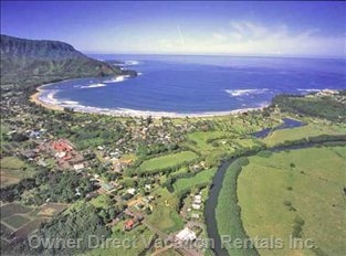 Hanalei Bay from above