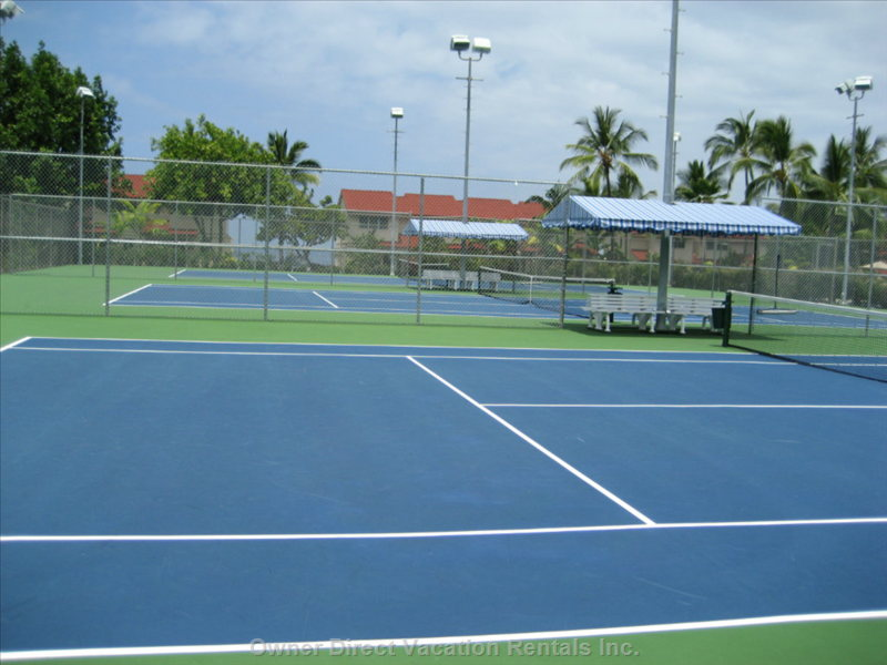 Newly Resurfaced and Lighted Tennis Courts within a Stones Throw from the Ocean