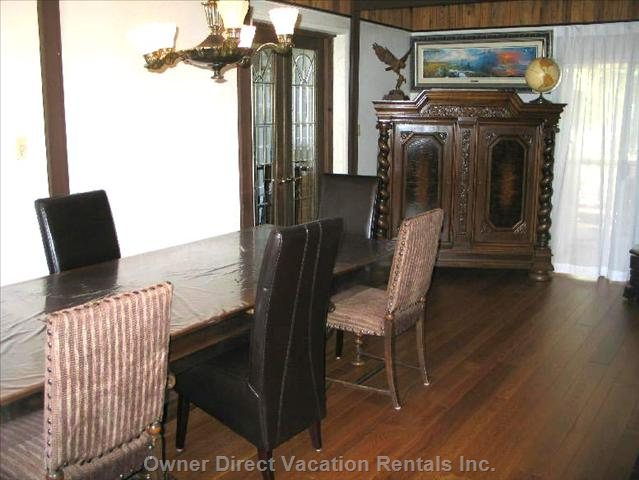 Hardwood Floors and Antiques Decorate the Villa'S Interior