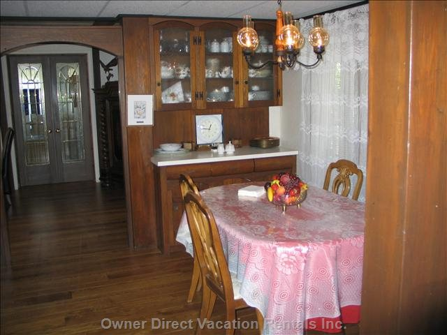 Small Dining Room Convenient to Kitchen