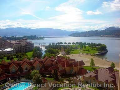 Spectacular View of Lake Okanagan/Pool from Main Balcony