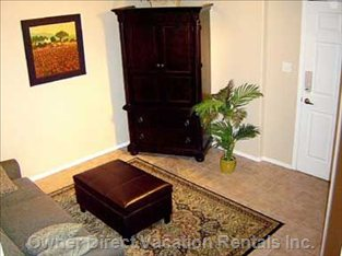 Den with Queen Sofabed and Armoire with TV, Gamecube and DVD