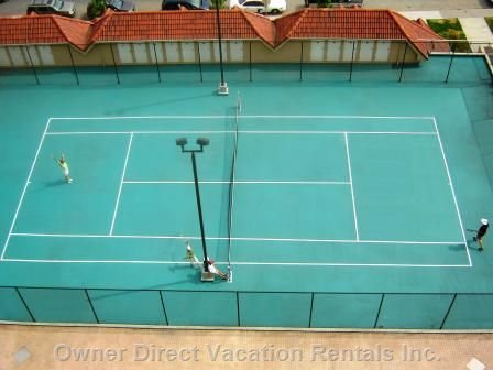 Tennis Courts as Viewed from 2nd Balcony