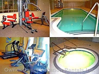 Indoor Pool, Hot Tub and Fitness Room