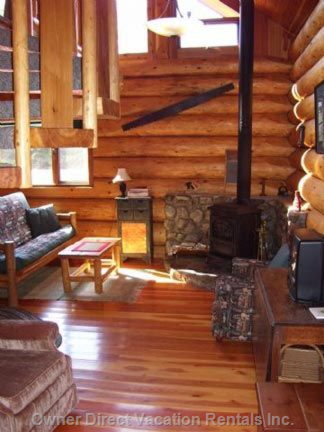 Living Area with Wood Stove