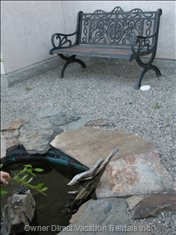 Relax While Sitting by your Private Water Pond. This Beautiful Spot is Also Visible from your Kitchen Window.
