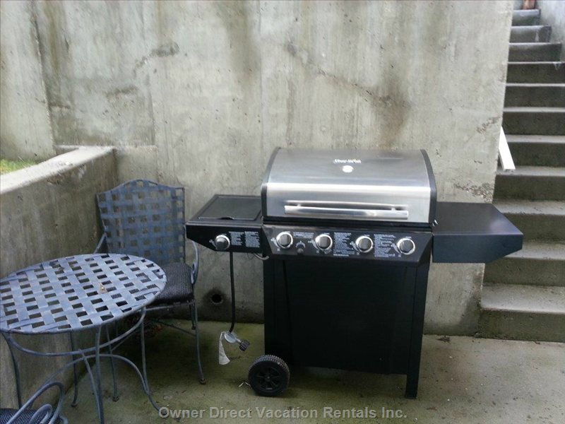 Barbecue & Patio Table & 2 Chairs