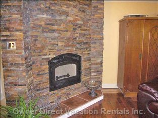 Wood Burning Fireplace in Living Room-lots of Wood Available.