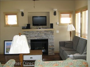 Family Room with Gas Fire Place